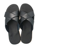 Men leather sandal and flip flop shoes Royalty Free Stock Photography