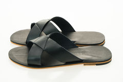 Men leather sandal and flip flop shoes Royalty Free Stock Photo