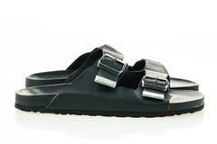Men leather sandal and flip flop shoes Stock Images