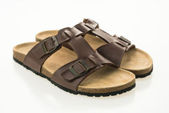 Men leather sandal and flip flop shoes Royalty Free Stock Photos