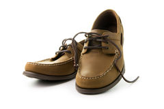 Men leather shoes Stock Photo
