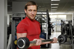 Men lifting weights Stock Images