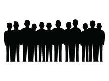 Men in a line. Large group of men in a line Royalty Free Stock Photo