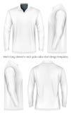 Men long sleeve polo shirt . Stock Images