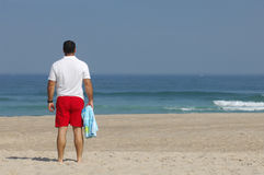 Men with looking the sea Stock Photo
