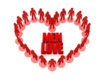 Men love. Stock Photography