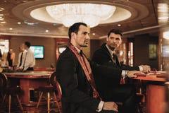 Men in luxury interior Royalty Free Stock Photos
