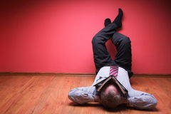 Men lying in the floor Royalty Free Stock Image