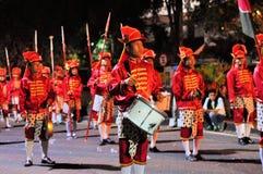 Men making music with drums, Yogyakarta city Stock Photography