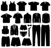 Men Man Male Apparel Shirt Cloth Wear. A big set of male clothing and apparel Royalty Free Stock Image