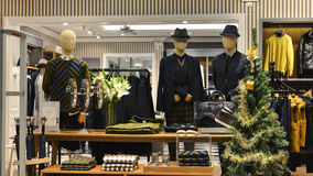 Men Mannequins in fashion shop,  clothes store,clothing shop, Royalty Free Stock Images