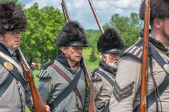 Men Marching during Battle of Crysler's Farm Stock Images