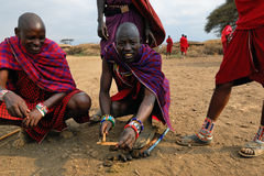 Men from Masai tribe Stock Photos