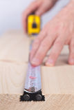 Measurement By Tape Measure Royalty Free Stock Image