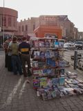 People at newsstand in Erbil, Kurdistan. Men Meeting at nesstand in the old City of Erbil, Northern Iraq, Kurdistan Region royalty free stock photography