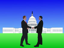 Men meeting in Washington DC Royalty Free Stock Photos