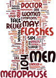 Men And Menopause Experience Symptoms That Are Similar Text Background Word Cloud Concept Stock Photos