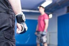 Men at mma training Stock Image