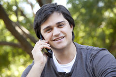 Men with mobile phone. Stock Photo