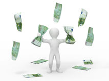 Men with money Royalty Free Stock Image
