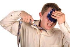 Men mop one handkerchiefs Royalty Free Stock Image