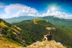 Men & mountains_1 Royalty Free Stock Image