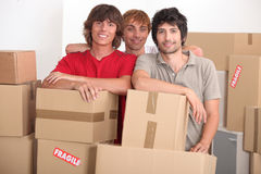 Men on moving day Royalty Free Stock Image