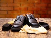 Men& nero x27; la s calza con attenzione gli accessori Immagine Stock Libera da Diritti