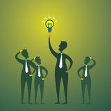 Men with new idea or bulb other will be thinking Royalty Free Stock Photos