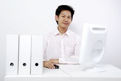 Men in the office stock images
