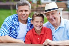 Men of one family Stock Photography