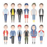 Men outfits for different occasions Royalty Free Stock Image