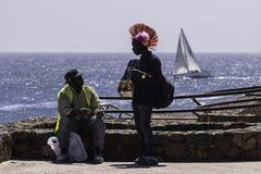 Men over the ocean Stock Photo