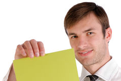 Men and paper Stock Photography