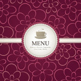 Menú para el restaurante, café, barra, café Foto de archivo libre de regalías