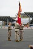 Men Passing Flag Royalty Free Stock Photos
