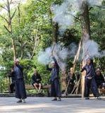 Men performance in ba sha miao village guinzhou,china Royalty Free Stock Photos