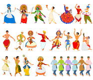 Free Men Performing Classical And Folk Dance Of India Royalty Free Stock Photo - 76895685