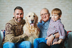 Men with pet Royalty Free Stock Image