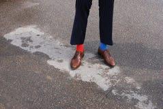 Men& x27; piernas de s Fotos de archivo