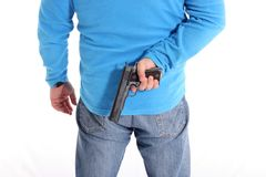 Men with Pistol Royalty Free Stock Photos