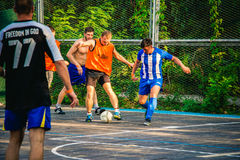 Men play soccer, sport, game 2017 Royalty Free Stock Photo