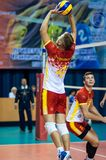 Men play volleyball Royalty Free Stock Photography
