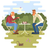 Men playing chess Royalty Free Stock Photography