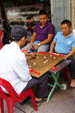 Men playing Chinese chess game Stock Photography