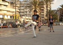 Men playing football, Beirut Royalty Free Stock Photos