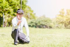 Men playing golf royalty free stock photos