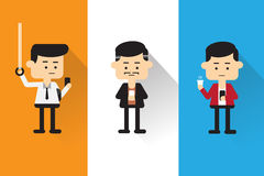 Men playing mobile anywhere, anytime. Vector : Men playing mobile anywhere, anytime on Aug 2015 royalty free illustration