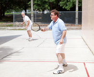 Men Playing Racquetball Royalty Free Stock Photo