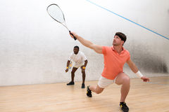 Men playing squash Royalty Free Stock Photography